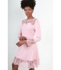 vestido campana rosa night concept