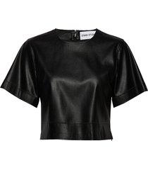 sherlyn t-shirt t-shirts & tops short-sleeved zwart stand studio