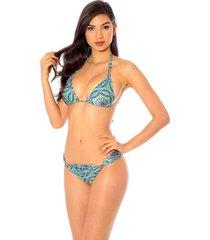 biquini mos beachwear labadee mandala verde - verde - feminino - dafiti