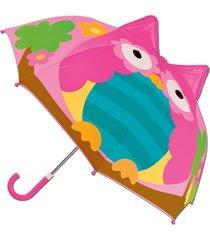 guarda chuva 3d coruja stephen joseph colorido