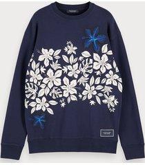scotch & soda hawaiian floral print sweatshirt