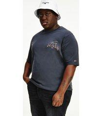 tommy hilfiger men's big and tall organic cotton t-shirt black - 5xl
