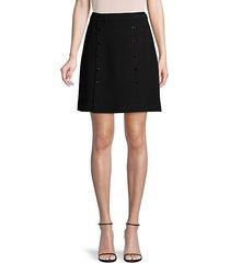 high-waist a-line skirt