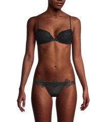 la perla women's lace padded push-up bra - black - size 36 b