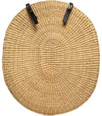 inès bressand over straw-woven backpack - neutrals