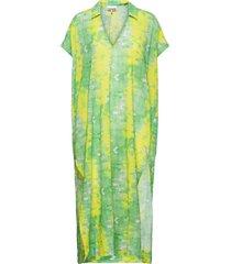 light cotton dresses t-shirt dresses grön ganni