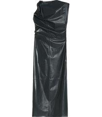 sportmax pancone leather dress