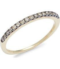 chocolatier® 14k honey gold™ & chocolate diamond® ring