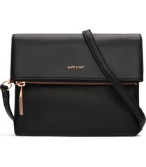 matt & nat hiley crossbody bag, black rose gold