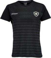 camiseta do botafogo date 19 - feminina - preto
