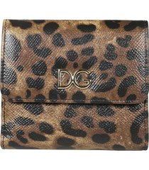 dolce & gabbana small leopard print french wallet
