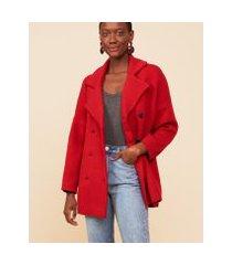 amaro feminino casaco de tricot com manga 7/8, vermelho