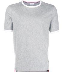 thom browne ringer slim-fit t-shirt - grey
