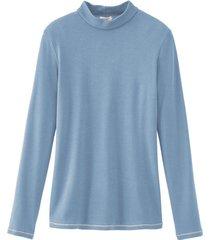 shirt met opstaande kraag, duifblauw 36