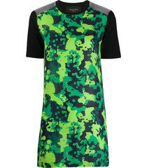 mr & mrs italy camo t-shirt dress - green