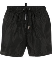 dsquared2 drawstring-waist swim shorts - black