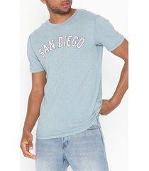 premium by jack & jones jprbenton blu. tee ss crew neck t-shirts & linnen ljus blå