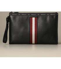 bally briefcase hartland bally clutch bag in leather with trainspotting canvas band