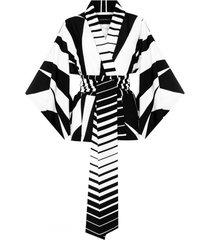 kimono black and white krótkie