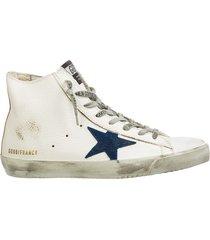 scarpe sneakers alte uomo in pelle francy