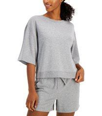 ideology cropped elbow-sleeve top, created for macy's