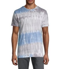 american stitch men's tie-dyed crewneck t-shirt - blue multi - size l