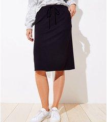 loft tall drawstring pocket pencil skirt