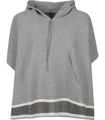 fabiana filippi loose fit hoodie cape