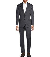 lauren ralph lauren men's pinstripe suit - dark grey - size 44 r
