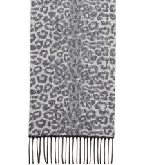 steve madden leopard-print muffler scarf