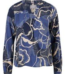 blus cushania leaf blouse