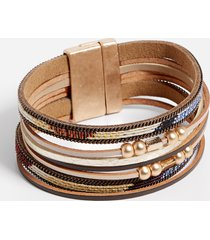 maurices womens multi color row magnetic bracelet