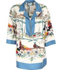 disney x silk twill shirt