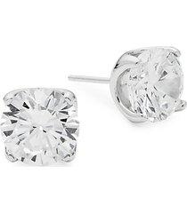 rhonda faber green sterling silver stud earrings