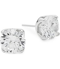 rhonda faber green sterling silver stud earrings