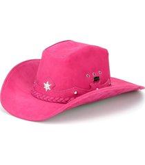 chapéu fourcountry americano couro rosa trançado