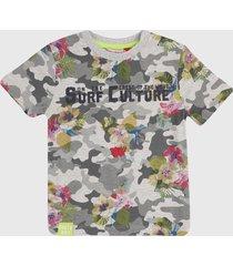 camiseta gris-multicolor boboli