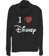fifth sun juniors disney logo i heart disney fleece cowl neck sweatshirt