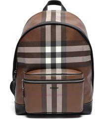 'ml jett' archive check leather backpack