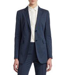 two-button stretch blazer