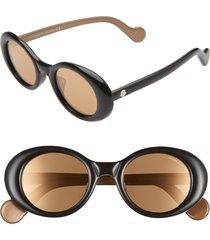 women's moncler 48mm round sunglasses -