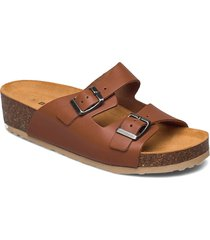 biabetty wedge buckle sandal shoes summer shoes flat sandals brun bianco