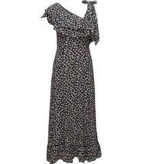 roseburg crepe jurk knielengte zwart ganni