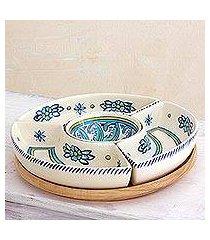 ceramic appetizer dish, 'bermuda' (guatemala)