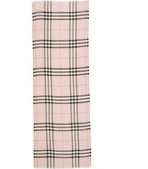 burberry giant check print wool & silk scarf in ash rose at nordstrom
