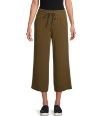 for the republic women's cropped wide-leg pants - black - size m