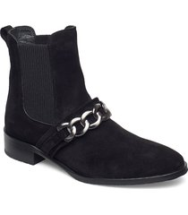 booties - flat - with elastic shoes boots ankle boots ankle boot - flat svart angulus