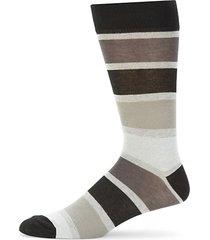 colorblock striped crew socks