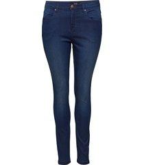 amy jeans super slim skinny fit plus skinny jeans blå zizzi