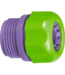 conector para mangueira 1/2'' com rosca externa roxo e verde